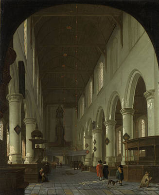 Portal Drawing - Interior Of The Oude Kerk In Delft From The Choir by Litz Collection