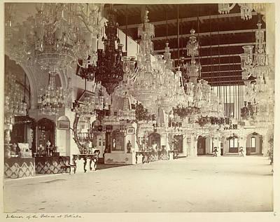 Interior Of The Palace At Patiala Art Print
