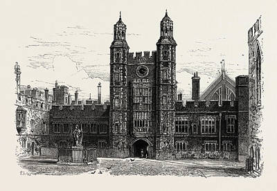 Interior Of The Quadrangle, Eton College Art Print by English School