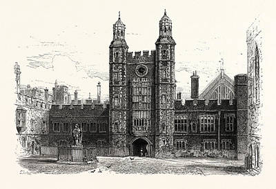 Interior Of The Quadrangle, Eton College, Uk, Britain Art Print by English School
