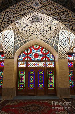 Persian Carpet Photograph - Interior Of The Winter Prayer Hall Of The Nazir Ul Mulk Mosque In Shiraz Iran by Robert Preston