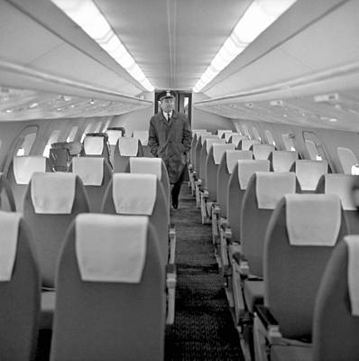 Cabin Interiors Photograph - Interior Of Tu-144 Supersonic Airliner by Science Photo Library