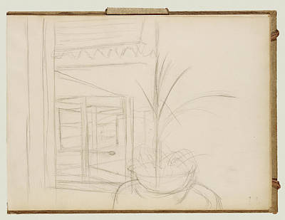Interior Scene Drawing - Interior Scene Edgar Degas, French by Litz Collection