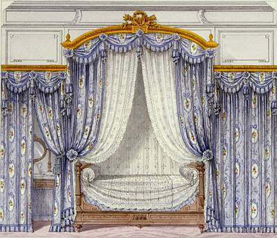 Interior Showing Furniture Art Print by French School