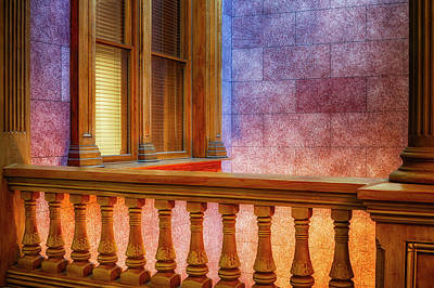 Indiana Photograph - Interior Space At The Tippecanoe County by Rona Schwarz
