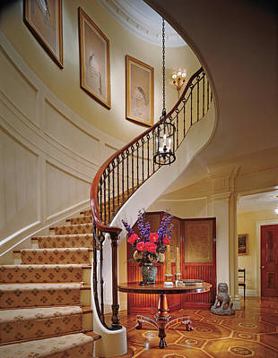 Photograph - Interior View Home With Staircase by Durston Saylor
