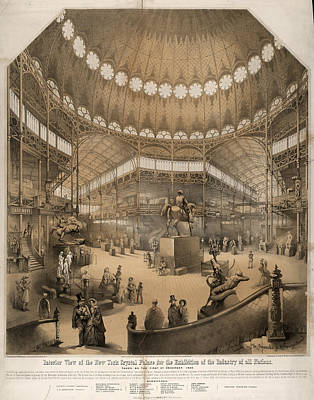 Interior View Of The New York Crystal Palace Print by Litz Collection