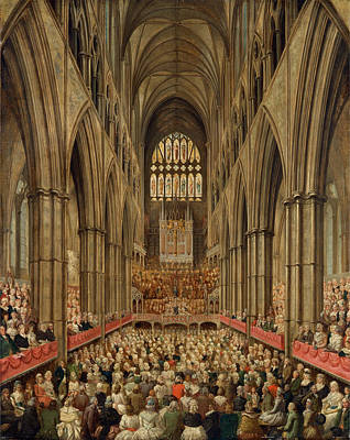 Westminster Abbey Painting - Interior View Of Westminster Abbey On The Commemoration by Litz Collection