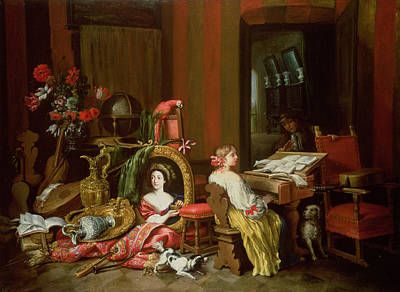 King Parrot Photograph - Interior With A Lady At A Harpsichord by Francesco Fieravino