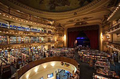 Interiors Of A Bookstore, El Ateneo Art Print by Panoramic Images
