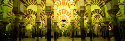Cordoba Photograph - Interiors Of A Cathedral, La Mezquita by Panoramic Images