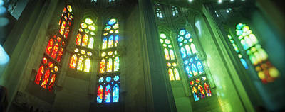 Multi Colored Photograph - Interiors Of A Church Designed by Panoramic Images