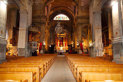 Provence Photograph - Interiors Of A Church, Saint Esprit by Panoramic Images