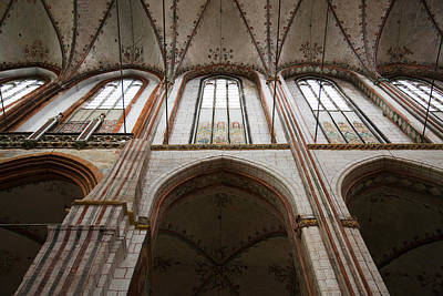Lubeck Photograph - Interiors Of A Gothic Church, St. Marys by Panoramic Images