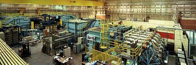 Hermes Photograph - Interiors Of A Laboratory, Hermes by Panoramic Images