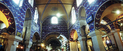 Bazaar Photograph - Interiors Of A Market, Grand Bazaar by Panoramic Images