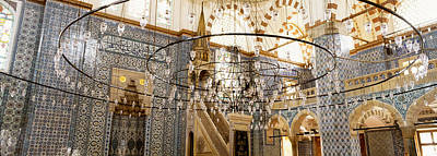 Interiors Of A Mosque, Rustem Pasa Print by Panoramic Images