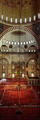 Mosaic Photograph - Interiors Of A Mosque, Suleymanie by Panoramic Images