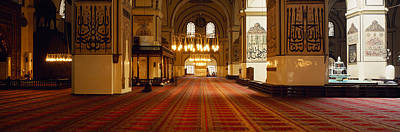 Islam Photograph - Interiors Of A Mosque, Ulu Camii by Panoramic Images