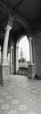 Espana Photograph - Interiors Of A Plaza, Plaza De Espana by Panoramic Images