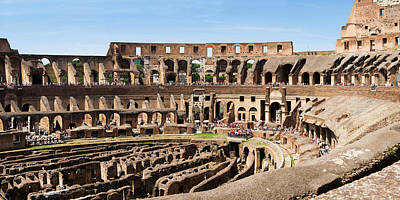 Interiors Of An Amphitheater, Coliseum Art Print by Panoramic Images