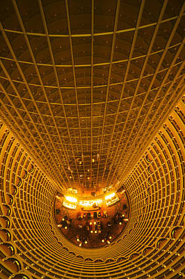 Interiors Of Jin Mao Tower Looking Art Print by Panoramic Images