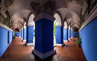Interiors Of Santa Catalina Monastery Print by Panoramic Images