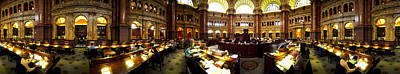 Interiors Of The Main Reading Room Art Print by Panoramic Images