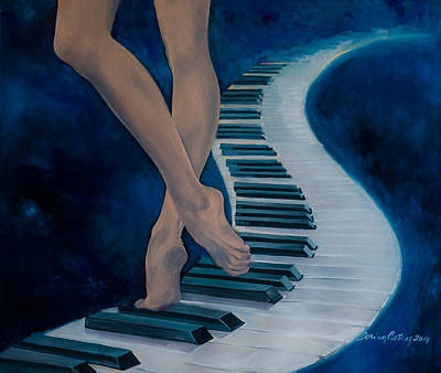 Piano Painting - Intermezzo by Dorina  Costras