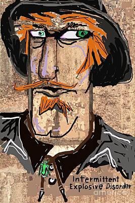 Intermittent Explosive Disorder Art Print by Joe Jake Pratt
