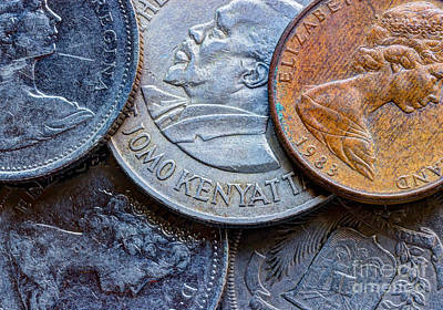 Photograph - International Coins by Heidi Smith