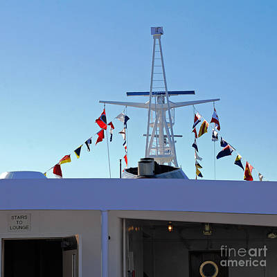 Photograph - International Flags At Sea by Connie Fox