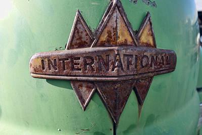 Old Trucks Photograph - International Harvester Insignia by Daniel Hagerman