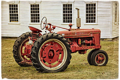 Photograph - International Harvester - Mccormick Farmall Tractor by Mike Martin
