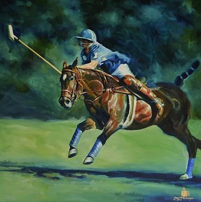 Polo Pony Painting - International Polo Series Usa #2 by Sally Buffington
