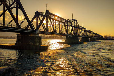 Photograph - International Railway Bridge by Chris Bordeleau