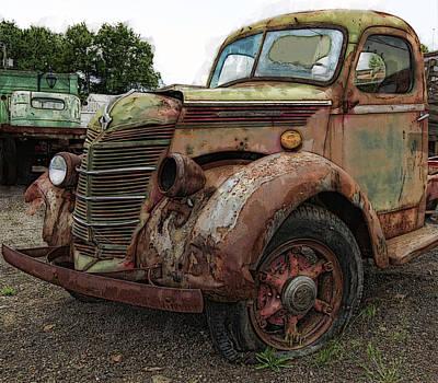 Truck Digital Art - International Rust by Daniel Hagerman