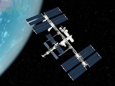 Digital Art - International Space Station, Artwork by Sciepro
