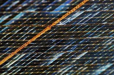 Semiconductor Photograph - International Space Station Solar Panel by Nasa