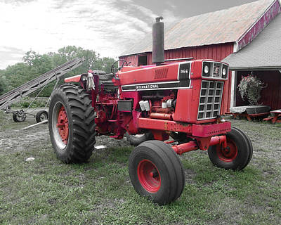 Photograph - International Tractor by Sarah Lamoureux