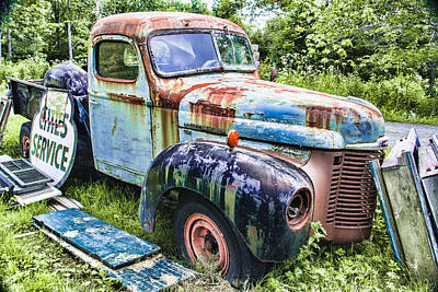 International Trucking Blues Art Print by Steven Bateson