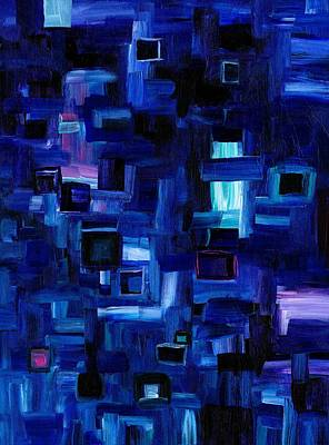 Digital Art - Interplay Blue by Jennifer Galbraith