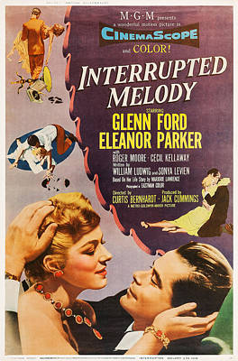 Interrupted Melody, L-r Eleanor Parker Art Print by Everett