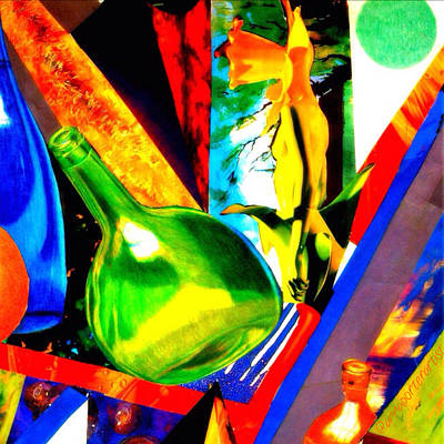 Vivid Photograph - Intersections Abstract Collage by Anna Porter