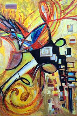 Painting - Intersections by Mary Schiros