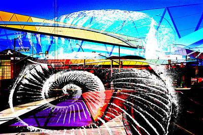 Sculptural Collage Photograph - Interstate 10- Cushing St Overpass- Rectangle Remix by Arthur BRADford Klemmer
