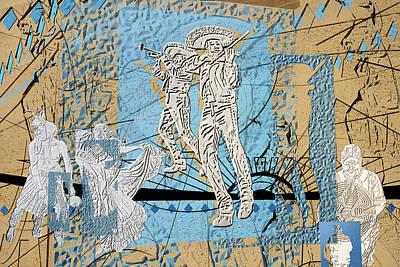 Sculptural Collage Photograph - Interstate 10- Exit 254- Prince Rd Overpass- Rectangle Remix by Arthur BRADford Klemmer