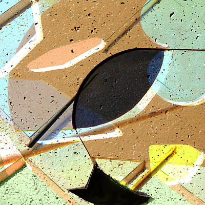 Sculptural Collage Photograph - Interstate 10- Exit 256- Grant Rd Underpass- Square Remix by Arthur BRADford Klemmer