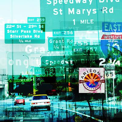 Interstate 10- Tucson Arrival Original by Arthur BRADford Klemmer