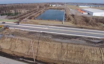 Photograph - Interstate 75 Construction Ohio Aerial by Dan Sproul